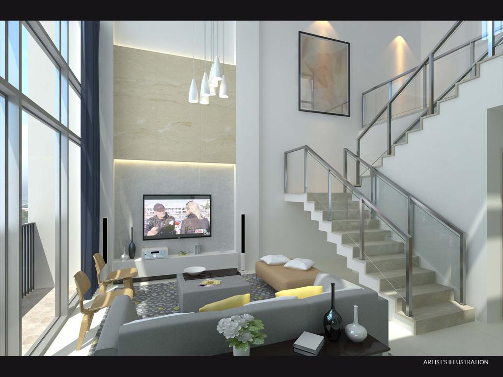 Penthouse St. Moritz Living Room