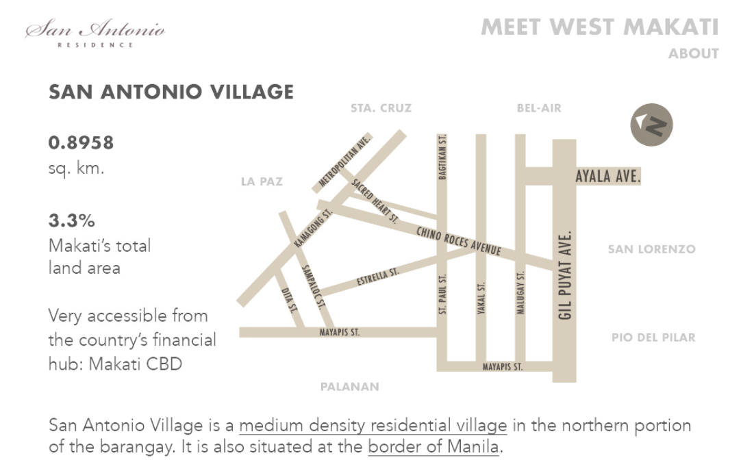 San Antonio Village Map - Megaworld Properties
