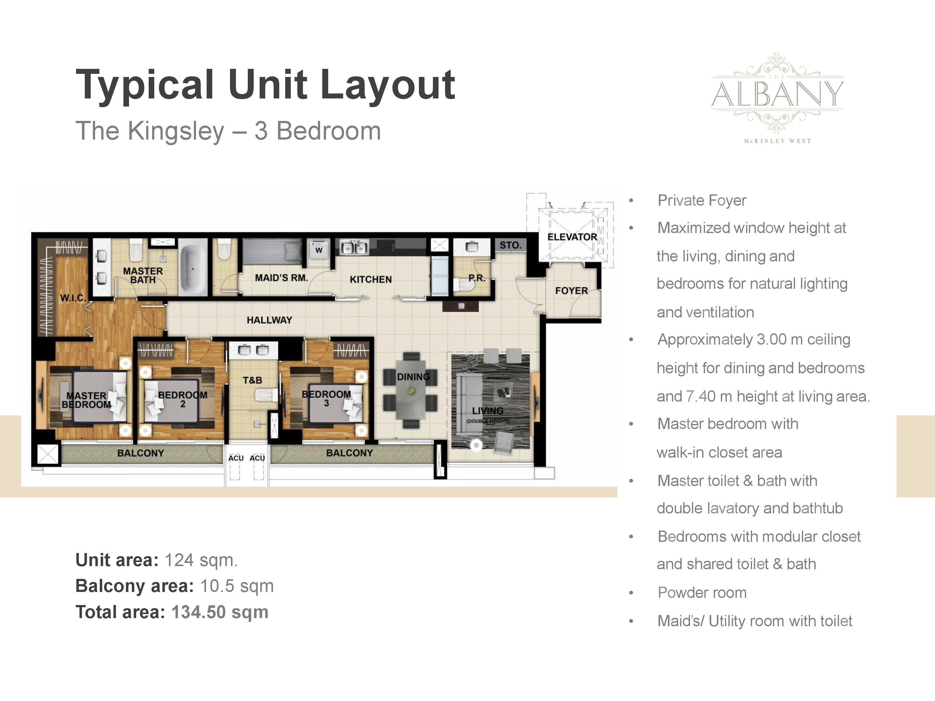 The Albany Unit Plan - 3 Bedrooms