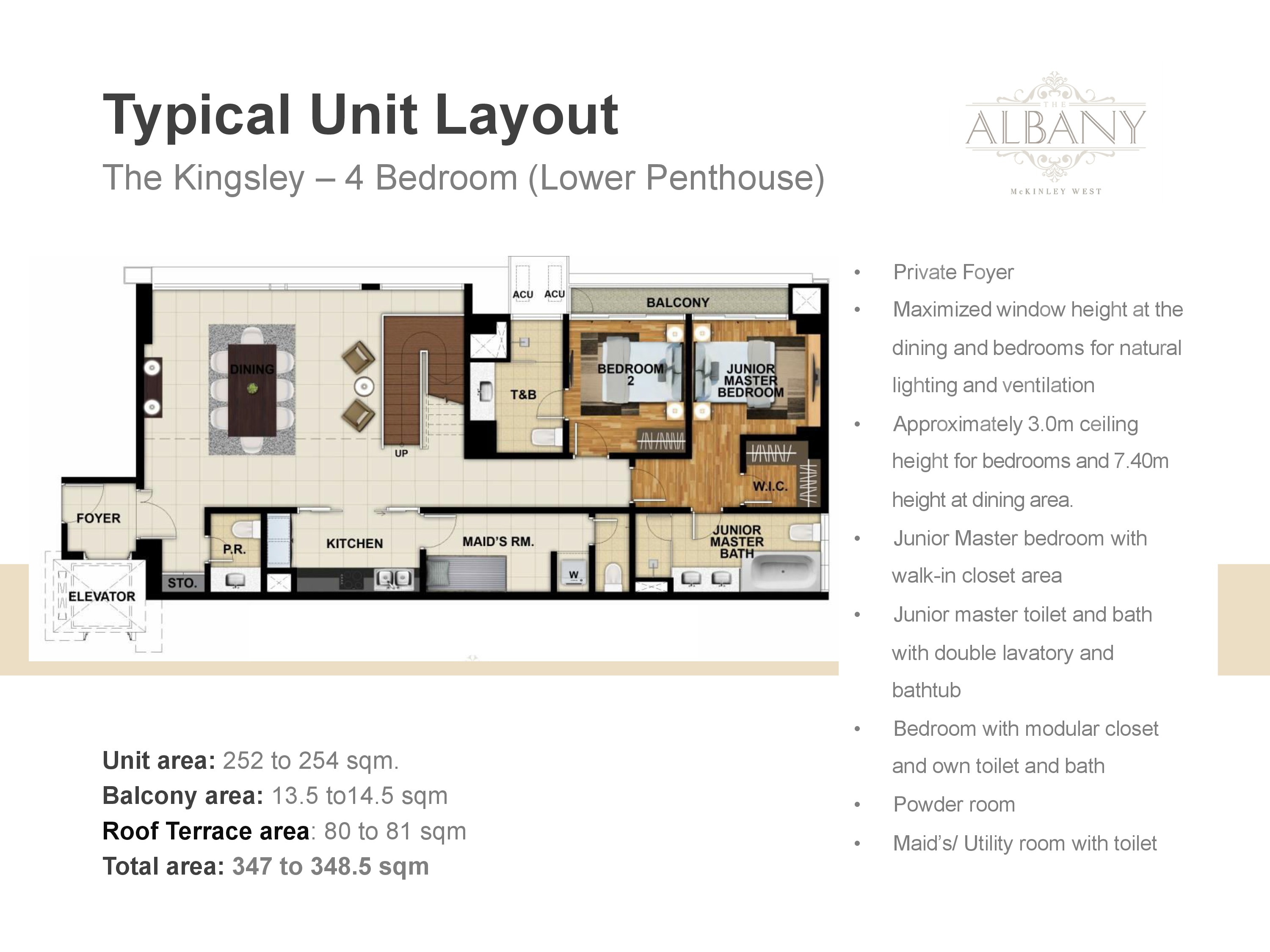 The Albany Unit Plan - 4 Bedrooms Lower Penthouse