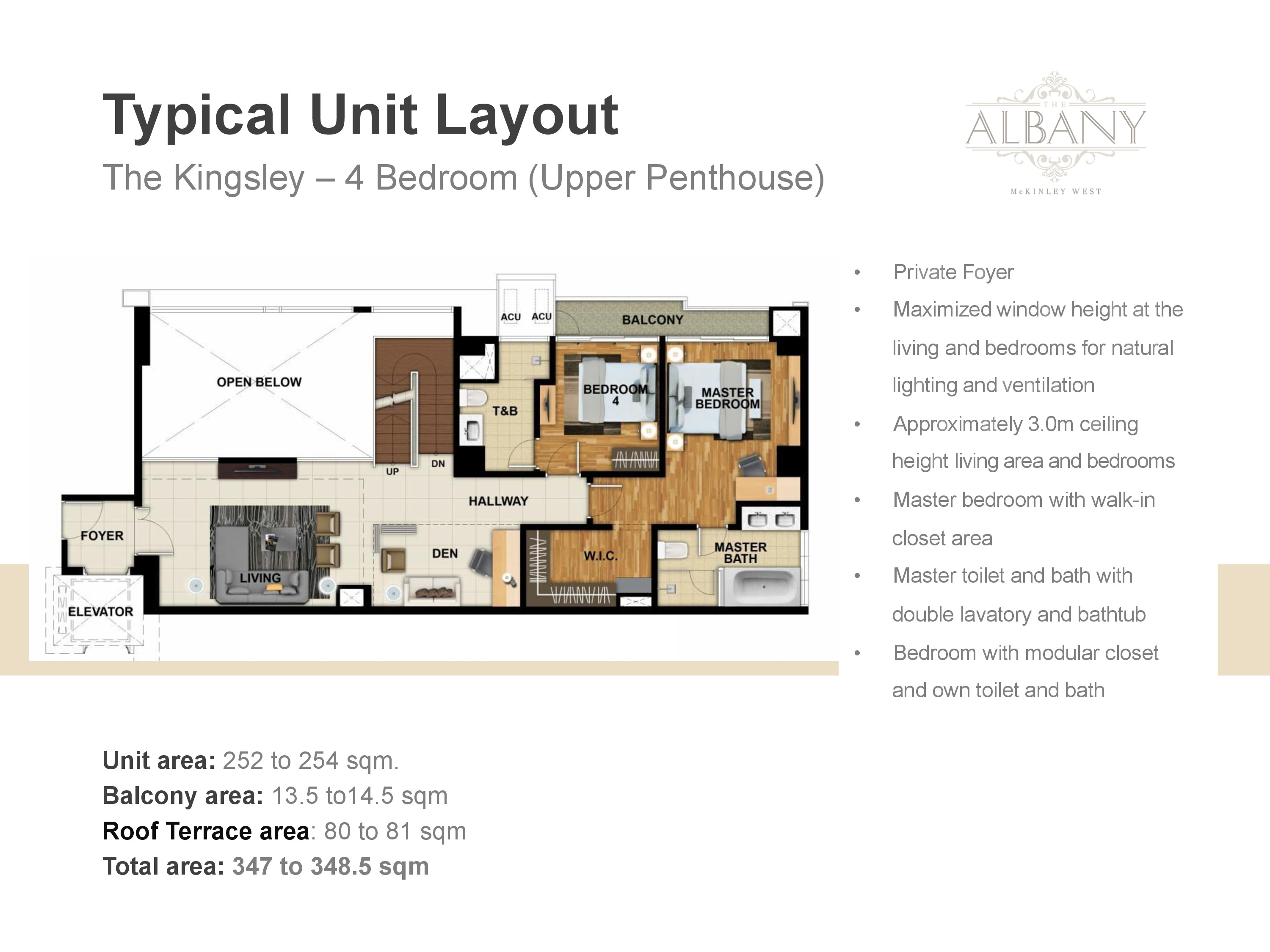 The Albany Unit Plan - 4 Bedrooms Upper Penthouse