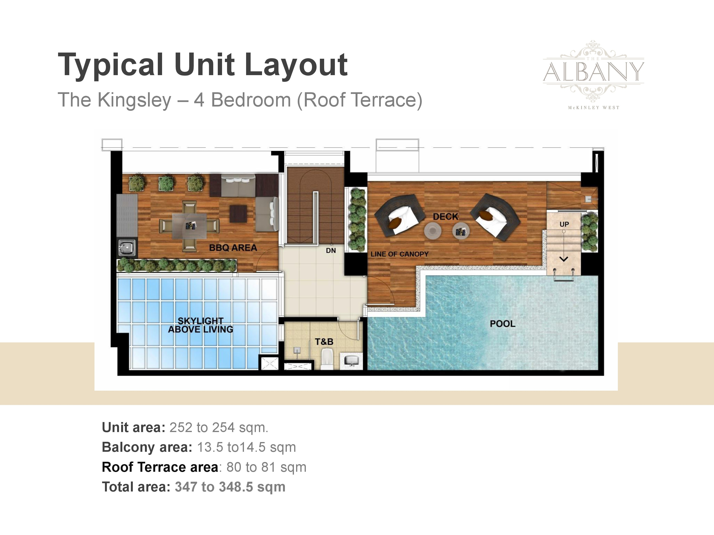 The Albany Unit Plan - 4 Bedrooms Roof/Terrace