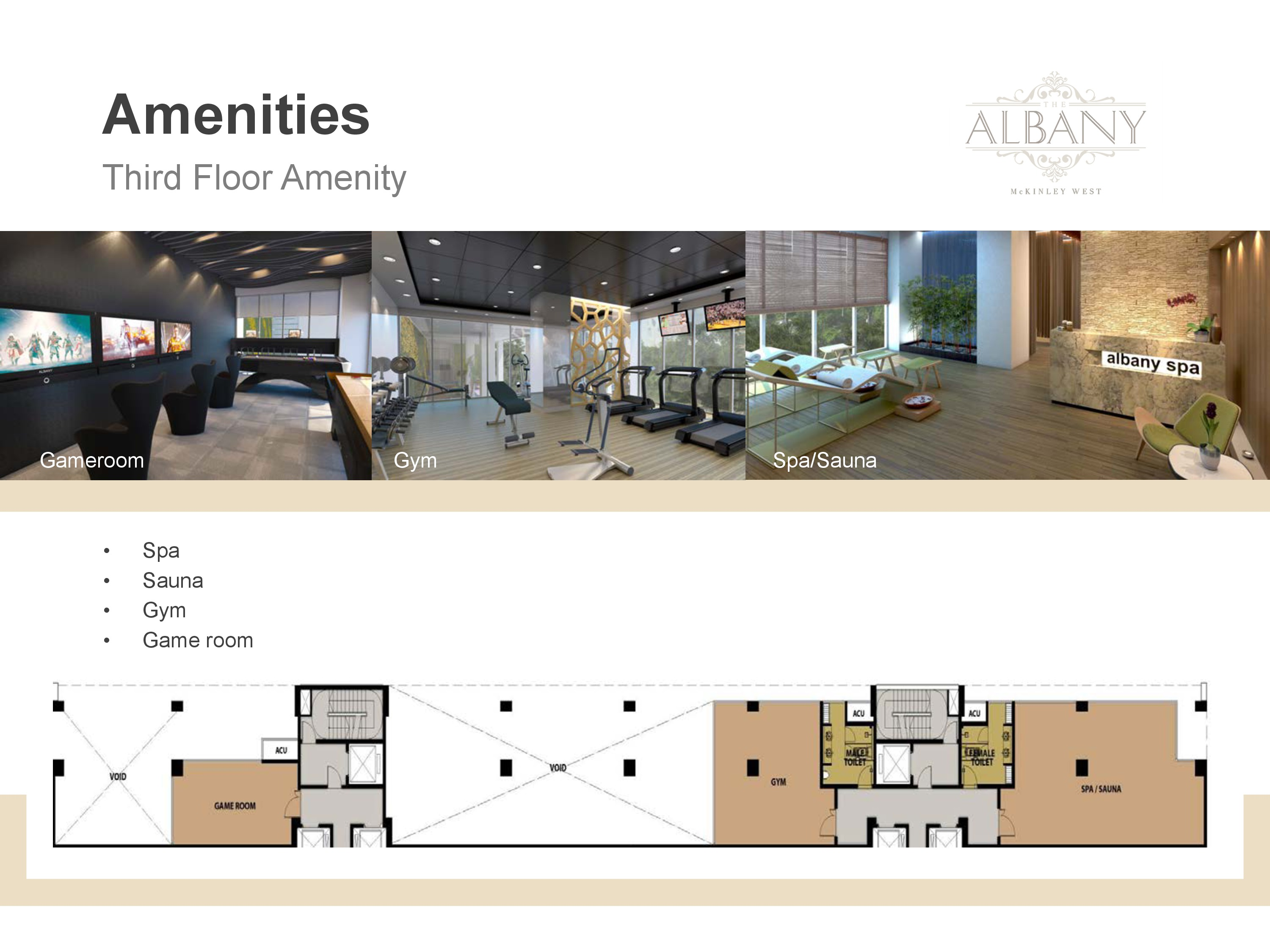 The Albany - Amenities at third floor