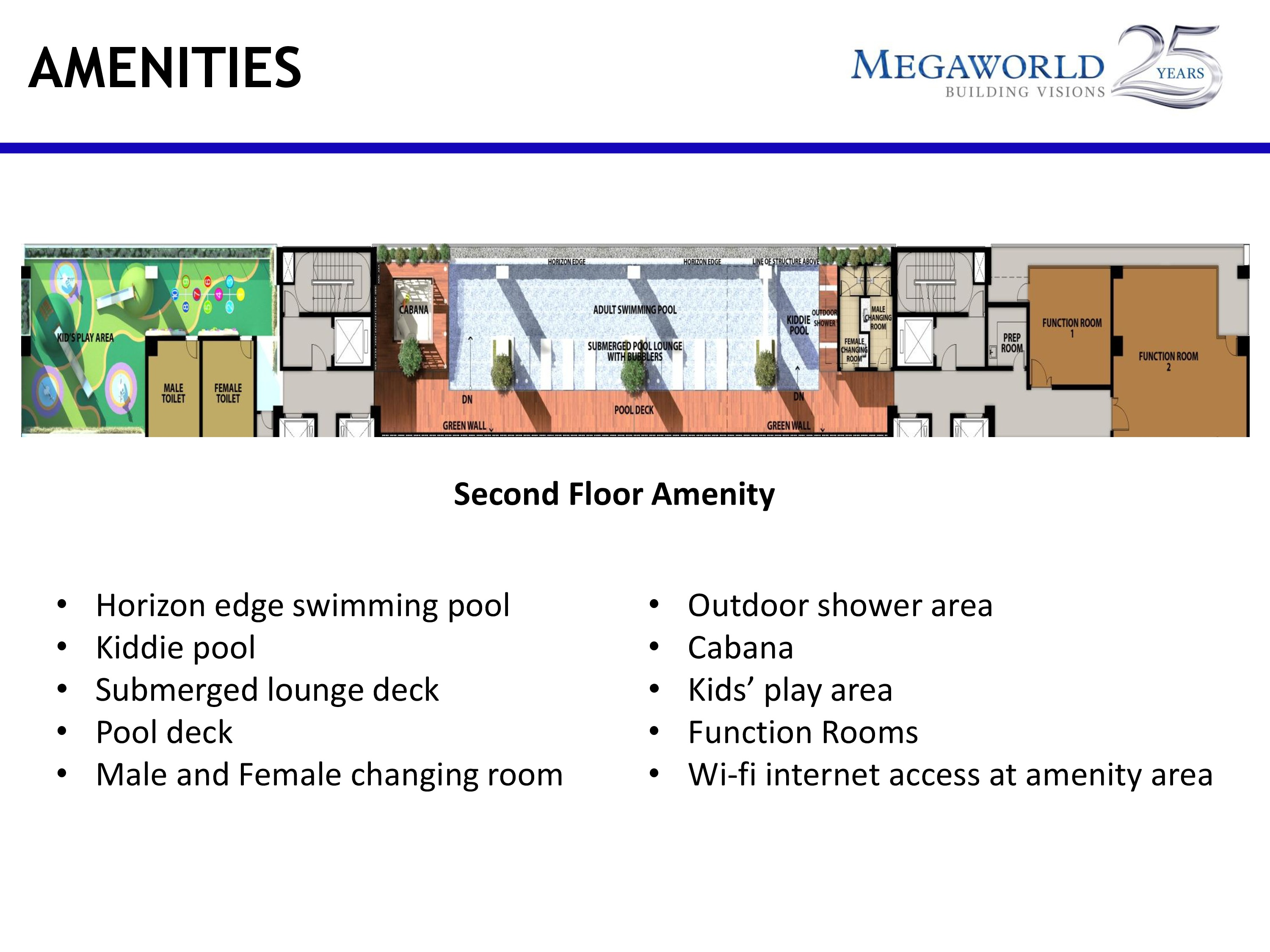 The Albany - Megaworld Amenities at second floor