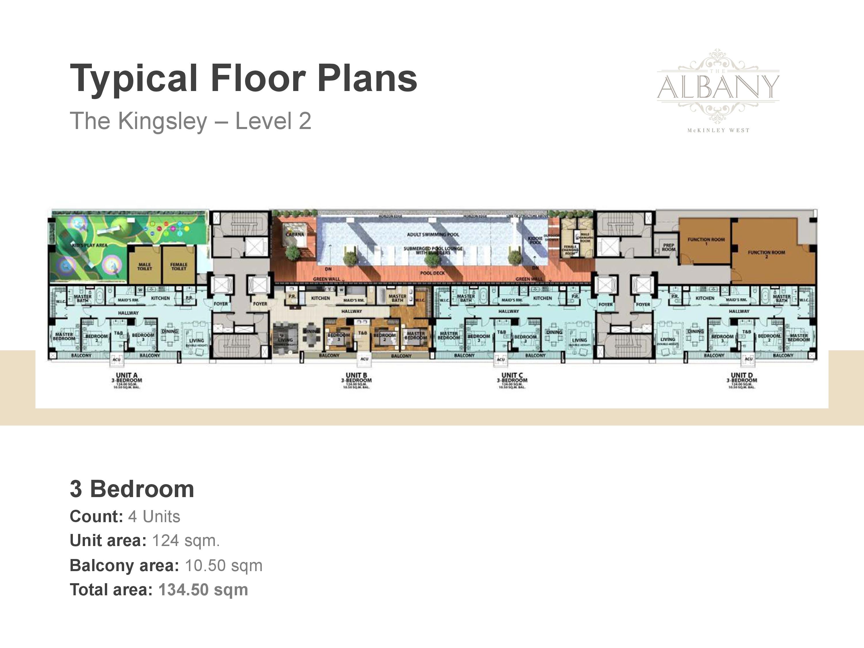 The Albany Floor Plan - Level 2 Three Bedroom